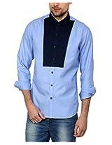 See Designs Men Buttoned Shirt (SDMDWSS15SH180_XL, LIGHT BLUE, XL)