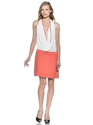 Stefanel Kleid (Weiß/Orange)