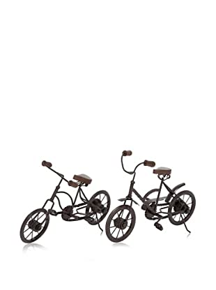 Industrial Chic Set of 2 Assorted Metal Racing Cycles