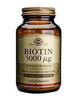 Solgar Biotin Vegetable Capsules, 5000 mcg, 100 Count