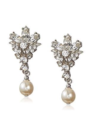 Ben-Amun Crystal Earrings with Pearl Drop