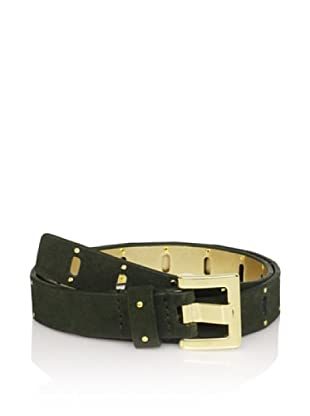 Via Spiga Women's Perforated Hip Belt (Green)