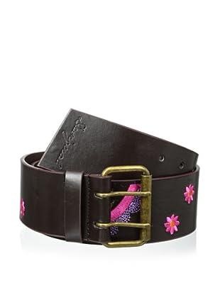 Desigual Women's Embroidered Belt, Black Multi (Black Multi)