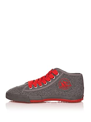 Shulong Zapatillas Shuwool High (Gris / Rojo)