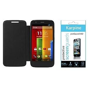 Karpine Motorola Moto G Flip Cover n Screen Guard Combo