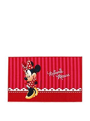 Disney Teppich Minnie Mouse rot/mehrfarbig 80 x 140 cm