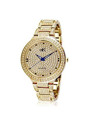 Adee Kaye Women's 9-69LG/CR Gold/Crystal Brass Watch