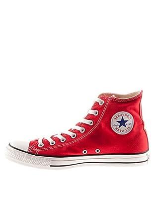 Converse AS Season Hi Tex 130126C - Zapatillas de lona estilo bota unisex (Rojo)
