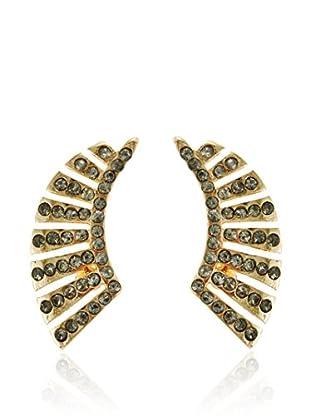Fragments Black Crystal Wing Stud Earrings