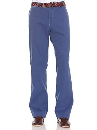 PEDRO DEL HIERRO Pantalón Liso Bordado (Azul Oscuro)