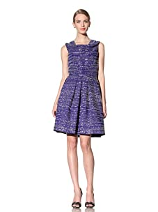 Naeem Khan Women's Beaded Dress with Full Skirt (Ink Blue)