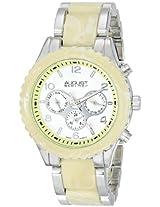 August Steiner Womens AS8093SS Swiss Quartz Multifunction Silver-tone Ivory Bracelet Watch