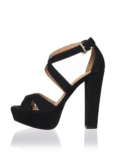 Madison Harding Women's Jackson Strappy Platform Sandal (Black)