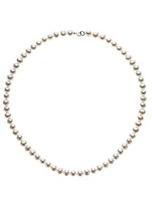 Le Perle di Emi Kaway Girocollo Perle Oro Bianco 18k 6,50-7 mm