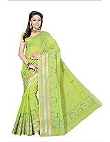Rani Saahiba Cotton Resham Gadwaal Saree(Skr879_Green)