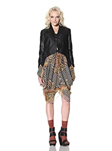 Gary Graham Women's Cropped Leather Jacket (Black)