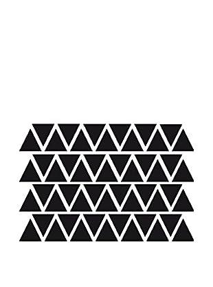 Ambiance Sticker Wandtattoo 50 tlg. Set Black Triangles Decals