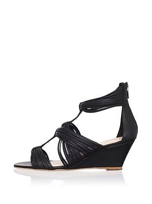 Loeffler Randall Women's Anja Wedge Sandal (Black)
