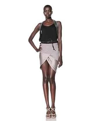 Improvd Women's Sorrow A-Line Skirt (Smoke)
