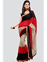 Printed Multi Saree Fabdeal