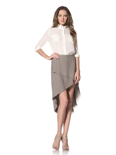 La Fee Verte Women's Layered Skirt (Charcoal)