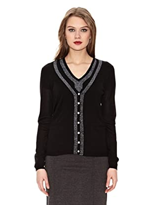 Assuili Conjunto Cardigan + Jersey (Negro)