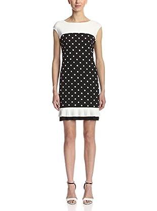 Sandra Darren Women's Cap Sleeve Polka Dot Dress