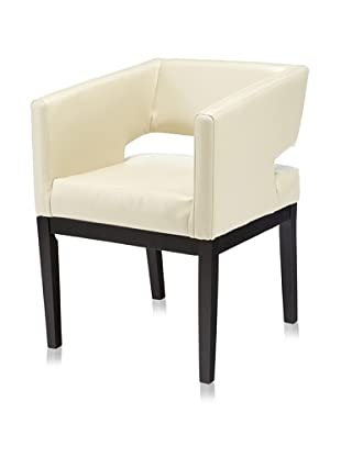 Armen Living Apollo Leather Arm Chair (Cream)