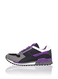 Diesel Men's High Speed Sneaker (Black/Charcoal Grey/Purple)