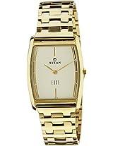 Titan Edge Analog White Dial Men's Watch - 1044YM07