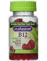 Vitafusion Energy B12 Very Raspberry -- 500 mcg - 100 Gummies