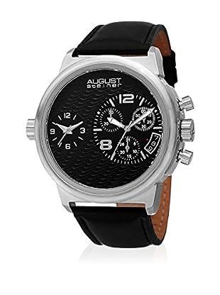 August Steiner Uhr mit schweizer Quarzuhrwerk  silberfarben/schwarz 51 mm