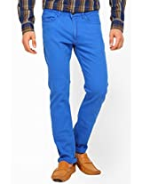 Solid Blue Skinny Fit Jeans