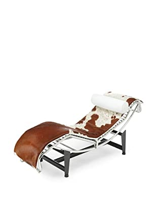 Adjustable Chaise in Pony, Brown/White