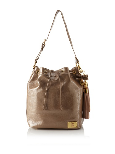 Just Cavalli Women's Gold Accented Drawstring Tote (Beige)