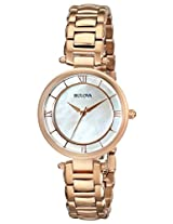 Bulova Classic Analog Mother of Pearl Dial Women's Watch - 97L124