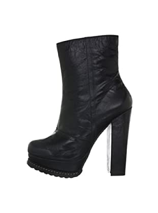 Buffalo London 40802-223 SANDY SPORT 138176 - Botines fashion de cuero para mujer (Negro)