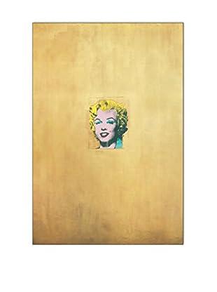 ArtopWeb Panel de Madera Warhol Marilyn Monroe Dorata 1962 - 76x52 cm
