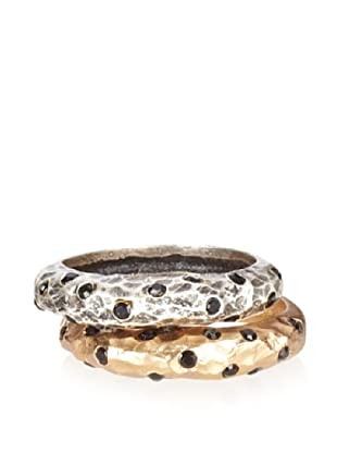 Tat2 Designs Pavia Black Crystal Layering Rings