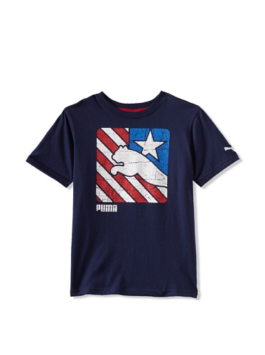 Puma Boys 8-20 USA Team Tee (Peacoat Blue)