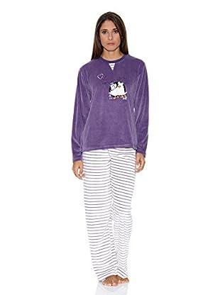 Bluedreams Pijama Tundosado (Ciruela)