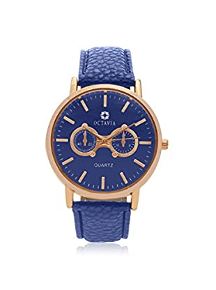 Octavia Women's OCT2069 Perfecta Blue Leather Watch