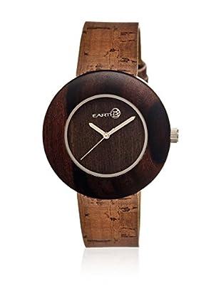 Earth Uhr mit Japanischem Quarzuhrwerk Ligna dunkelbraun 43  mm