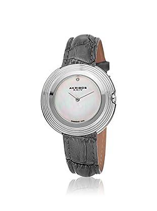 Akribos XXIV Women's AK876GY Velvet Gray Leather Watch