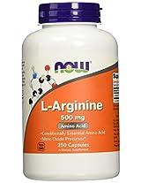 Now Foods, L-Arginine, 500 mg, 250 Capsules