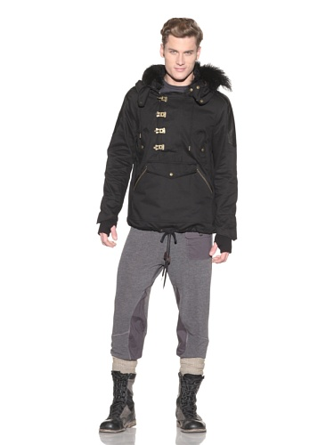 Nicholas K. Men's Sultan Brushed Twill Jacket (Black)