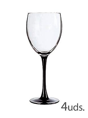 Luminarc Estuche 4 Copas Agua 36 Cl Modelo Domino Noir