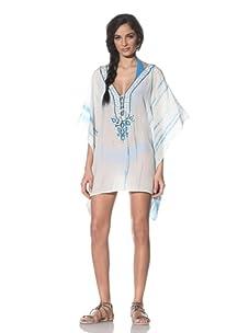 Tikka Women's Lace-Up Tunic (Blue/White)
