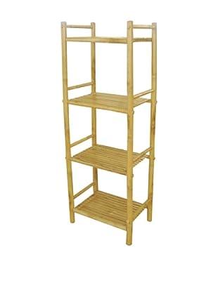 ZEW, Inc. Outdoor Bamboo 4-tier Shelf