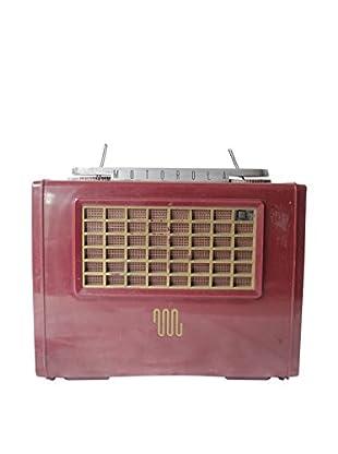 1940s Vintage Motorola Radio, Red/Gold